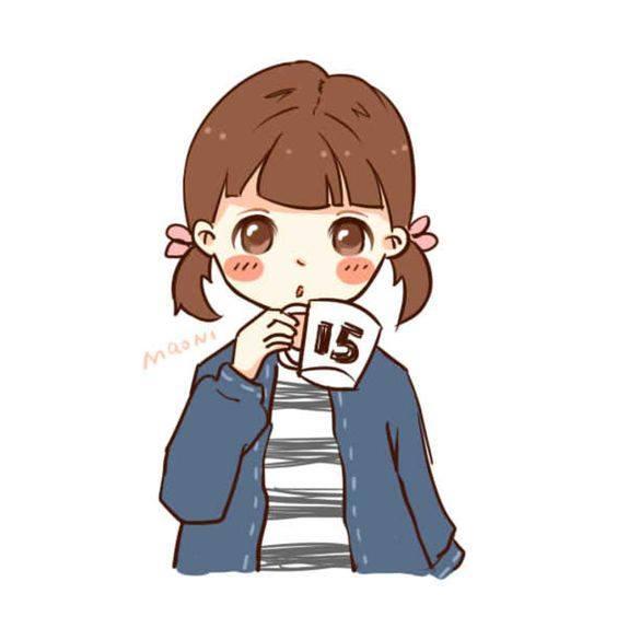 ảnh đôi bạn nữ uống trà sữa