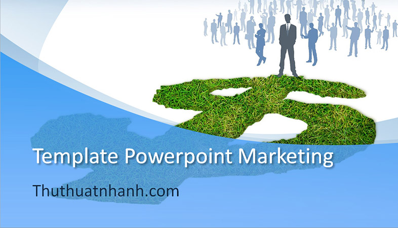 template powerpoint marketing