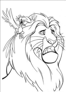 Hình ảnh tập tô con sư tử cho bé.