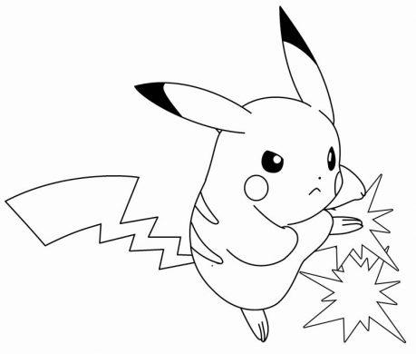 tranh to mau Pikachu chien dau