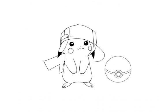 tranh to mau Pikachu cho be