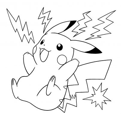 tranh to mau Pikachu giat set