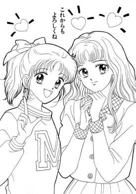 tranh to mau anime cho be gai tap to