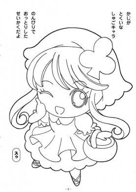 tranh to mau anime girl tinh nghich