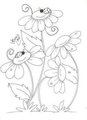 tranh to mau den trang hoa cho be
