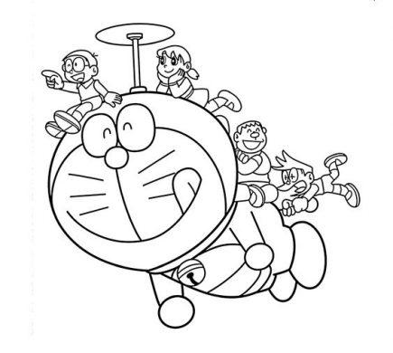hình vẽ doremon và những người bạn