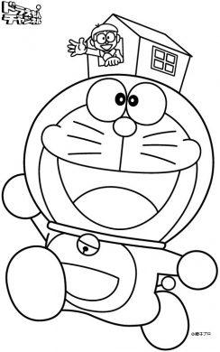 tranh tô màu Doraemon đáng yêu