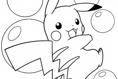 tranh to mau hinh Pikachu