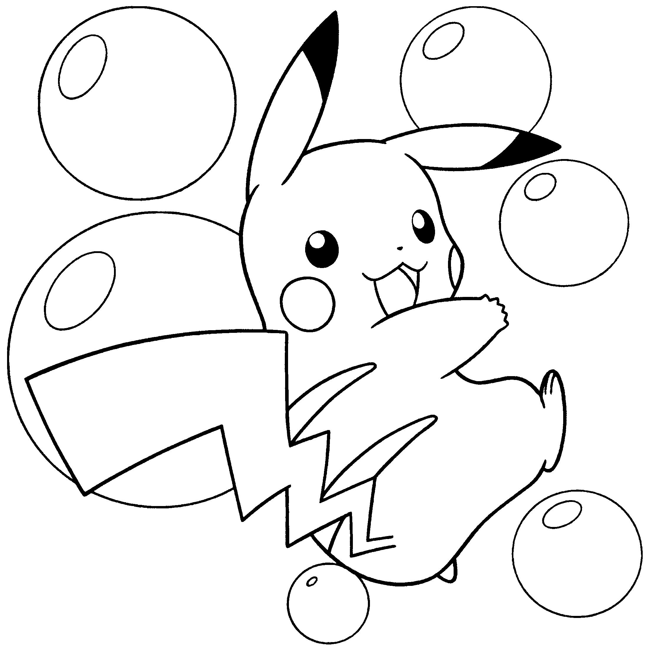 Tranh Tô Màu Hình Pikachu Siêu Dễ Thương Cho Bé