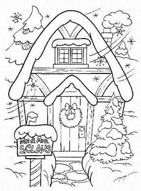 hình vẽ tranh ngôi nhà bánh kẹo