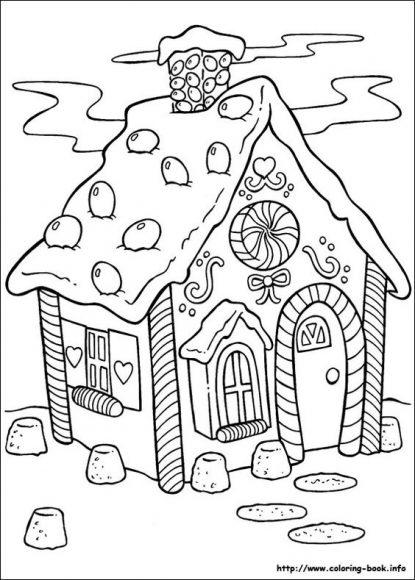 tranh vẽ nhà kẹo ngọt