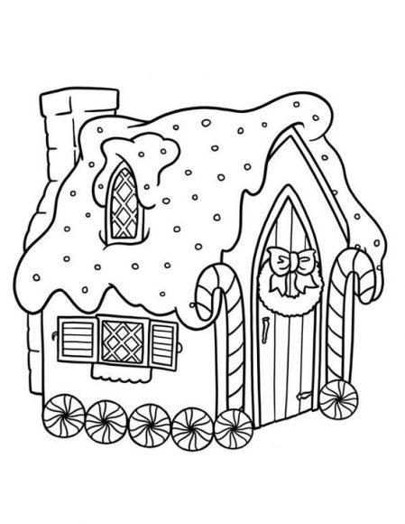 tranh ngôi nhà kẹo ngọt