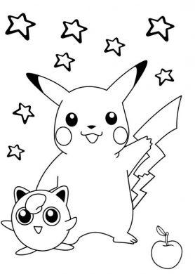 tranh to mau pikachu dep nhat cho be