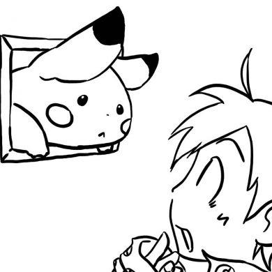 tai ve tranh to mau Pikachu ngo vs Satoshi