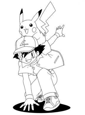 tranh to mau pokemon pikachu cho be 3-7 tuoi