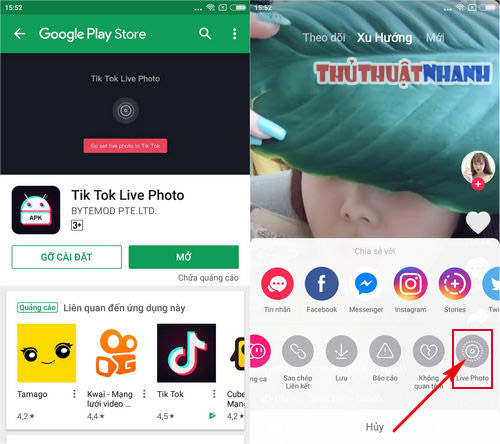 cach su dung video tik tok lam hinh nen dien thoai android