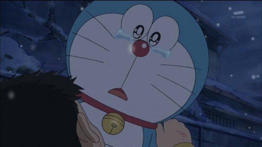 hình ảnh Doremon buồn khóc