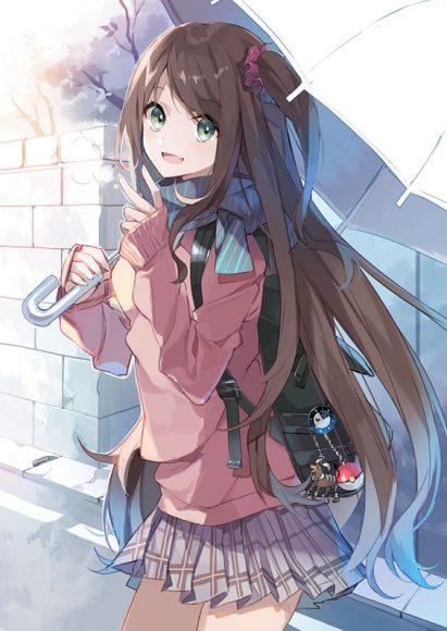 anh anime girl hoc duong ngay tho kute hon nhien