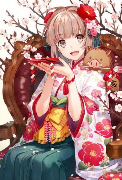 anh anime girl tet trong sang de thuong