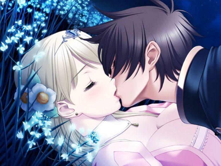 hinh anh dep ve tinh yeu anime hon nhau lang man