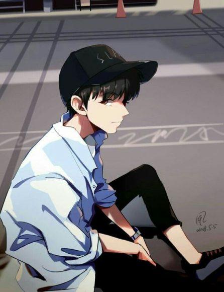 hinh anime chàng học sinh