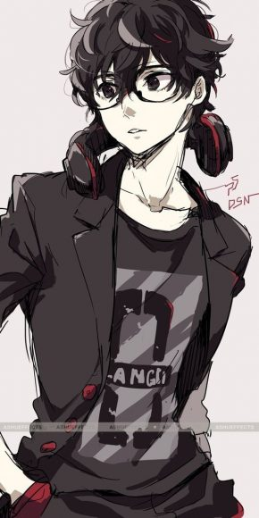 hinh anime boy dep trai deo kinh