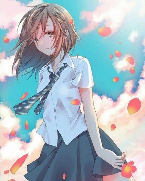 hinh anime girl buon that tinh cho smartphone