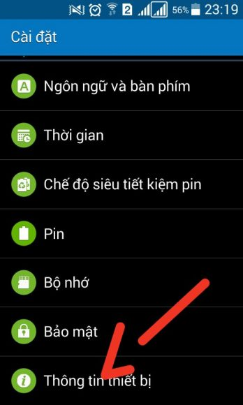 thong tin thiet bi tren may android
