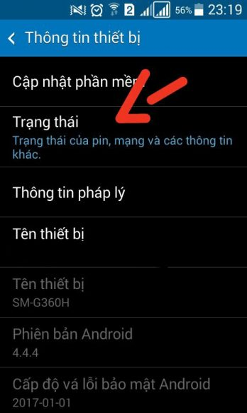 xem trang thai may android check imei