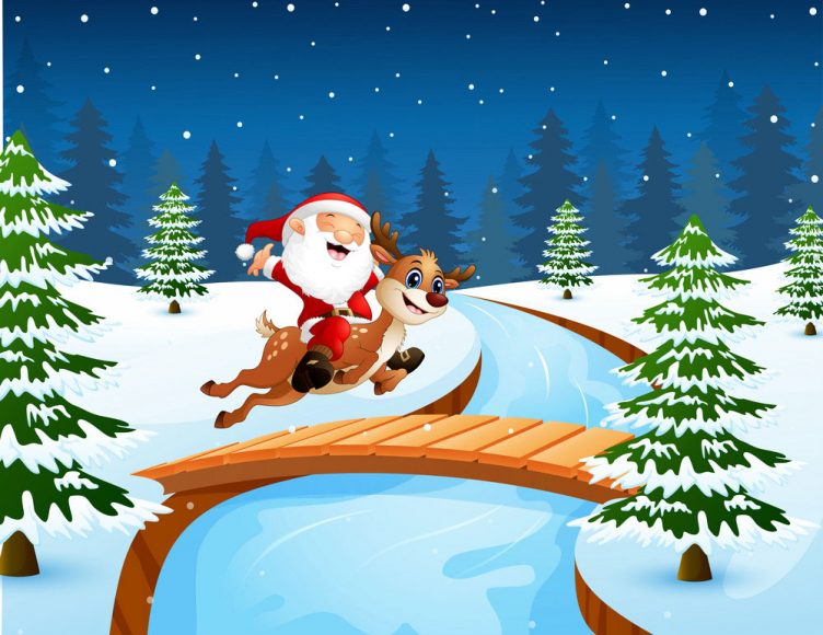 anh ong gia Noel cuoi tuan loc