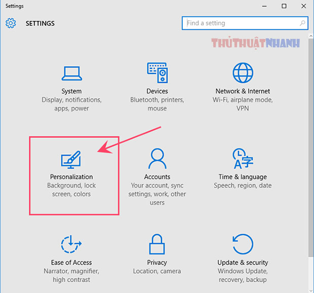 mo muc personalization tron windows 10