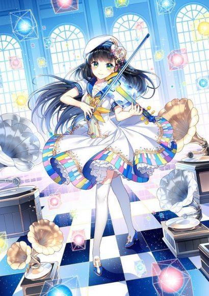 anh anime girl keo violin de thuong