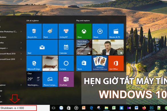 cach hen gio tu dong tat may tinh windows 10