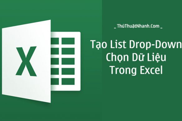 cach tao list drop down trong excel