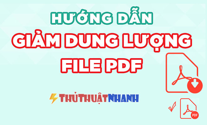 giam dung luong file PDF