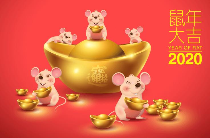 Tượng chuột vàng đẹp may mắn phú quý