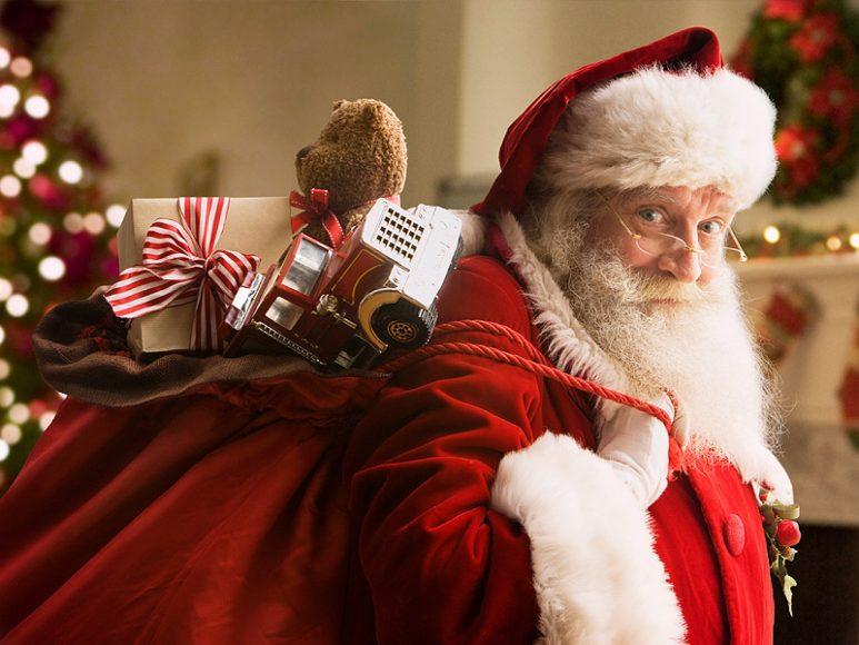 hinh anh ong gia Noel dep tuyet