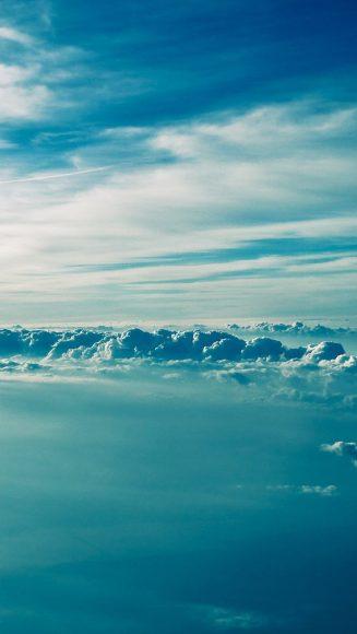 ảnh bầu trời xanh cho smartphone
