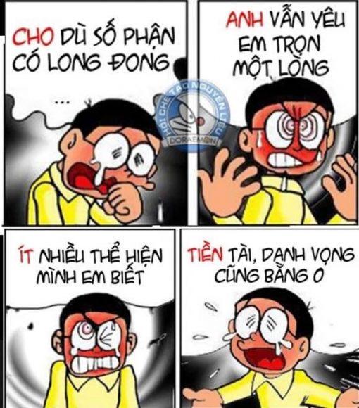 ảnh chế Nobita tình yêu