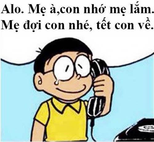 ảnh chế tết đến rồi của Nobita