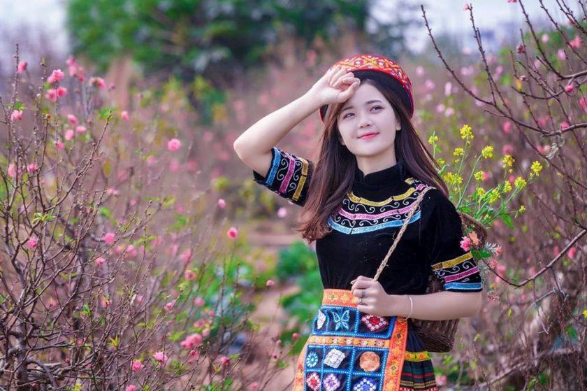 ảnh gái xinh dân tộc xinh đẹp trong ngày tết