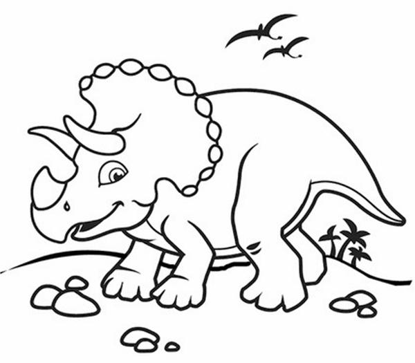 ảnh khủng long dễ thương cho bé tập tô