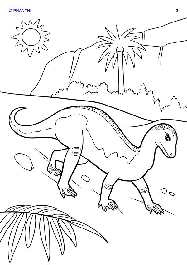 ảnh khủng long đẹp cho bé tập tô