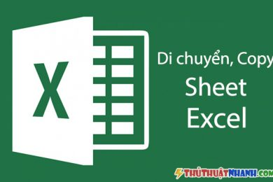 cách di chuyển copy sheet này sang sheet khác trong excel