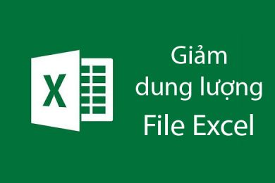 cach giam dung luong file excel