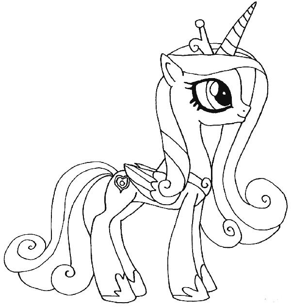 hinh anh den trang ngua pony cho be to mau