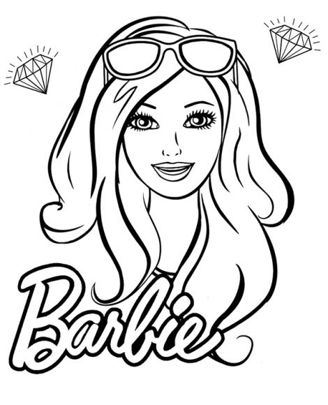 hình ảnh tranh tô màu búp bê barbie