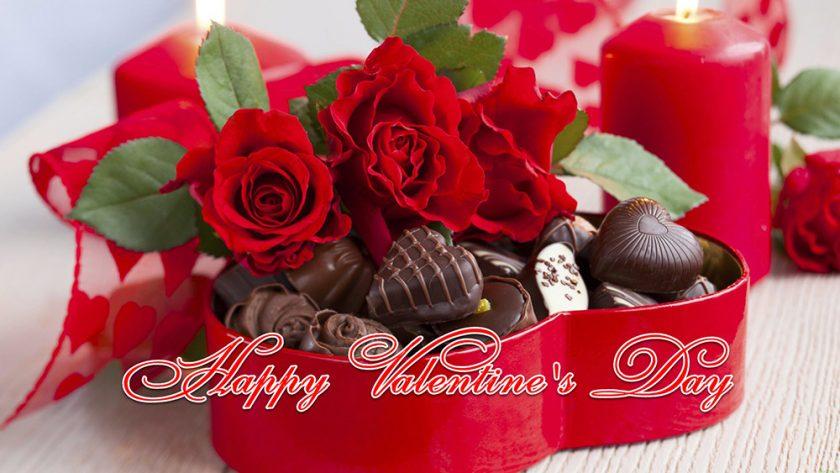 hinh anh valentine hoa hong va socola ngot ngao hanh phuc