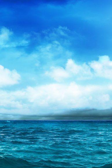 hình bầu trời xanh cho iphone