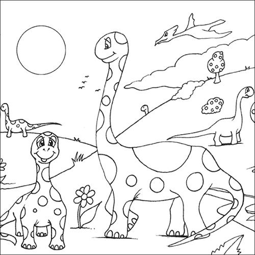 hình khủng long dễ thương tập tô cho bé